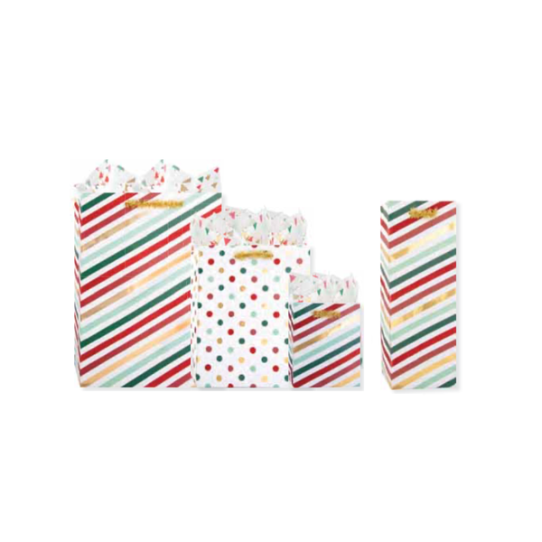 LARGE Merry Mix Holiday Gift Bags Design Design Holiday - Paper & Packaging - Gift Wrap