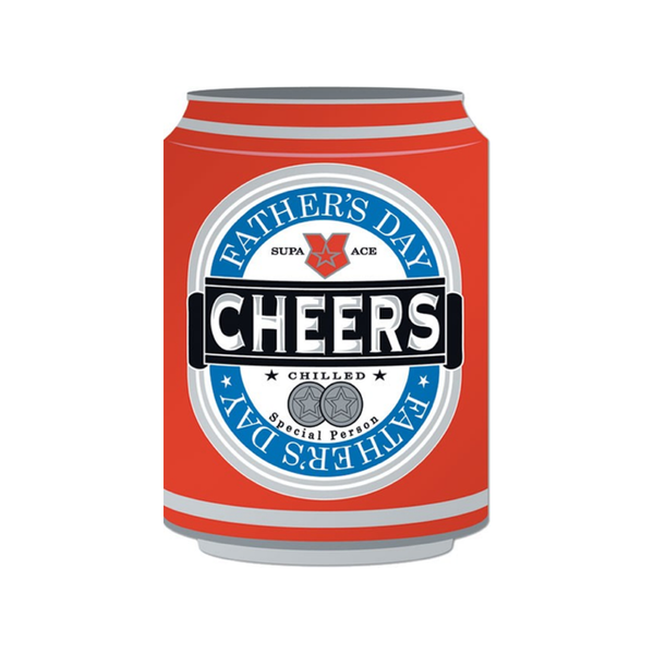 Cheers Can Father's Day Card Design Design Paper and Gifts Greeting Cards