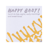 Happy Baby Knit Blanket Baby Card Egg Press Cards - Baby