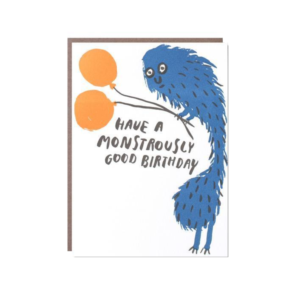Monstrously Good Birthday Card Egg Press Cards - Birthday