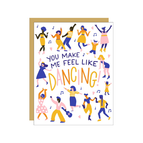 Feel Like Dancing Card Egg Press Cards - Encouragement