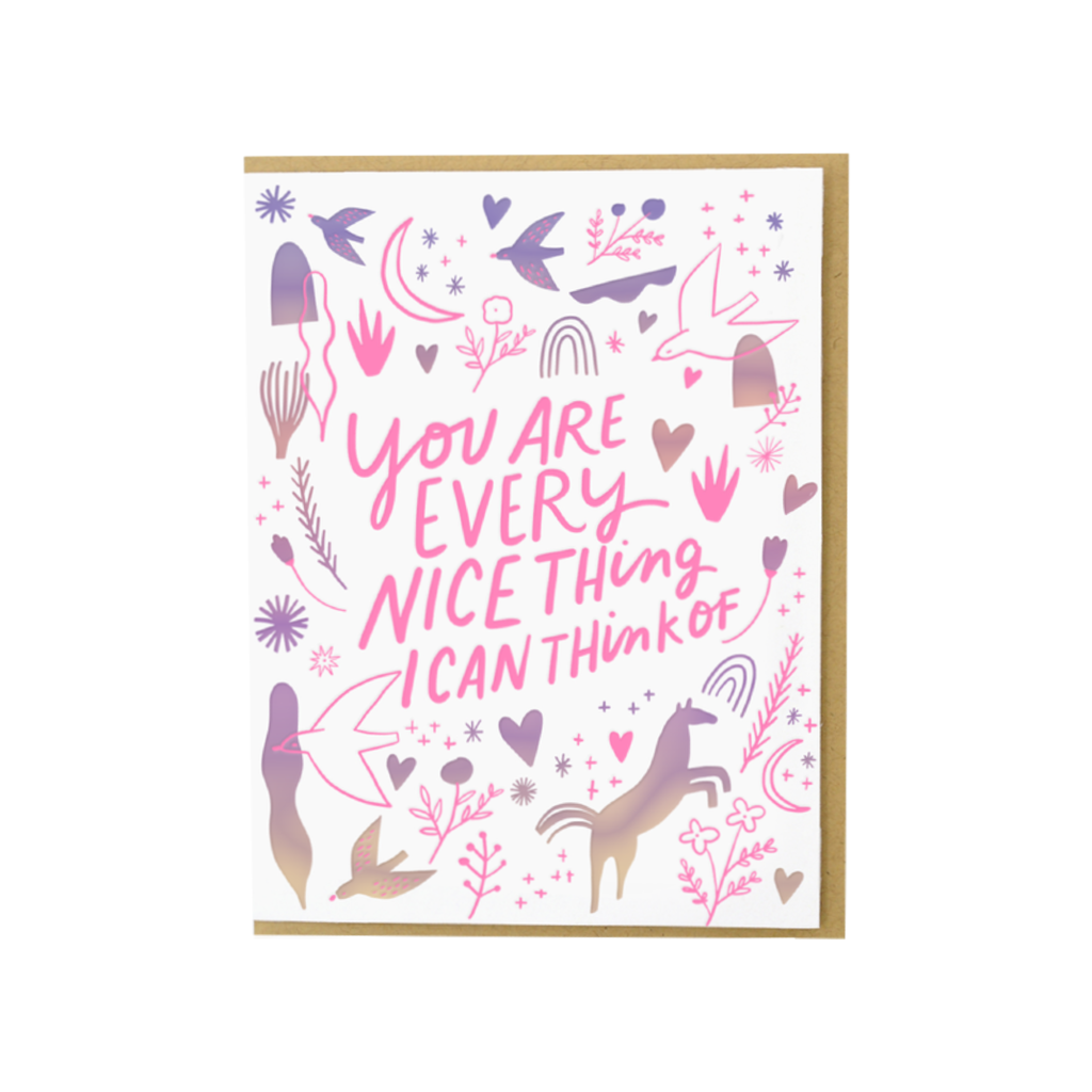 Every Nice Thing Card Egg Press Cards - Love