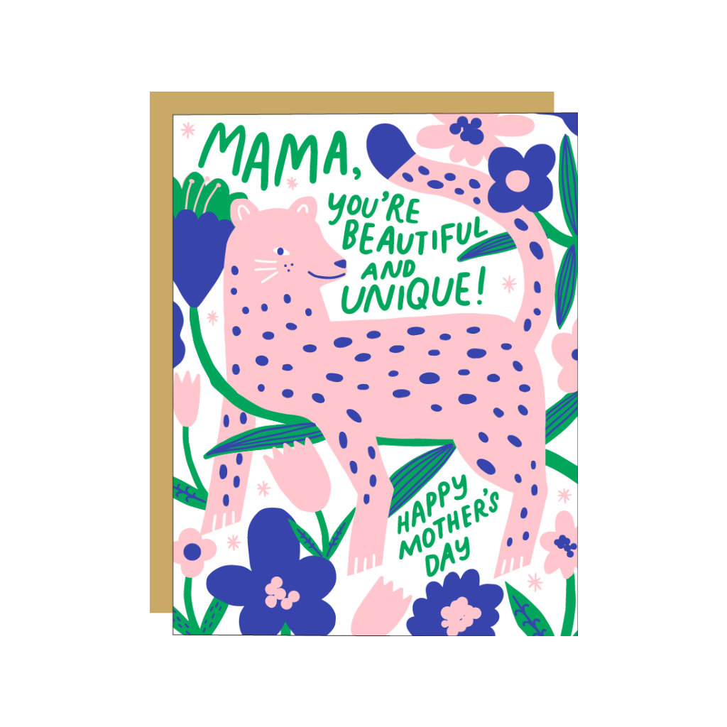 Mama Leopard Mother's Day Card Egg Press Cards - Mother's Day