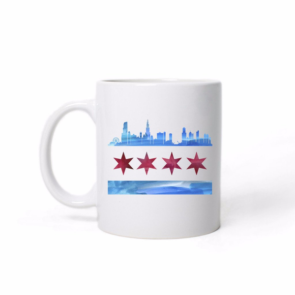 Chicago Flag Skyline Mug Emerson and Friends Mugs & Glasses