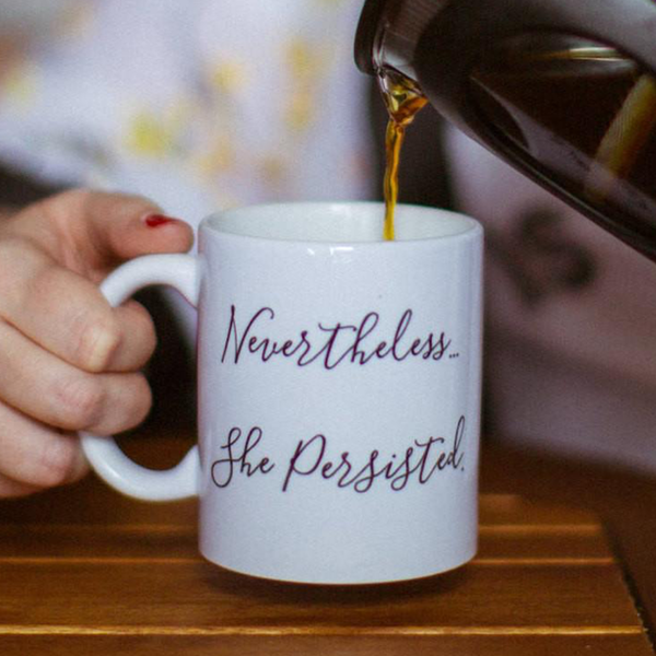 Nevertheless She Persisted Mug Emerson and Friends Mugs & Glasses