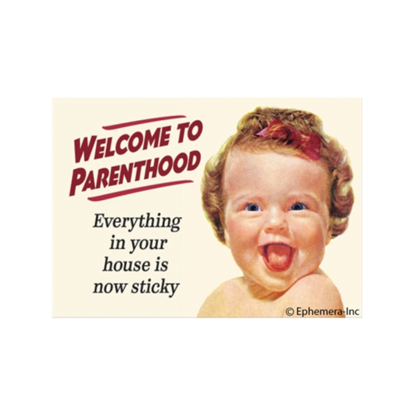 Welcome To Parenthood Refrigerator Magnet Ephemera Magnets