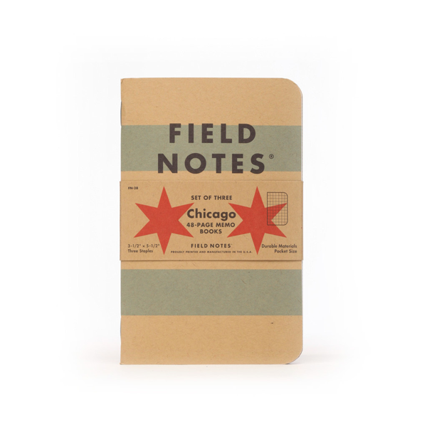 Field Notes Chicago Edition 3-Pack Field Notes Brand Notebooks & Journals