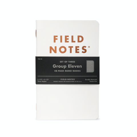 Group Eleven Field Notes Quarterly Limited Edition Memo Books
