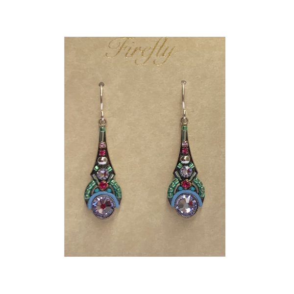 Firefly Drop Earrings - Lavendar Firefly Jewelry - Earrings