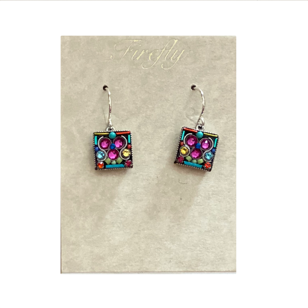 Firefly Drop Square Earrings Firefly Jewelry - Earrings