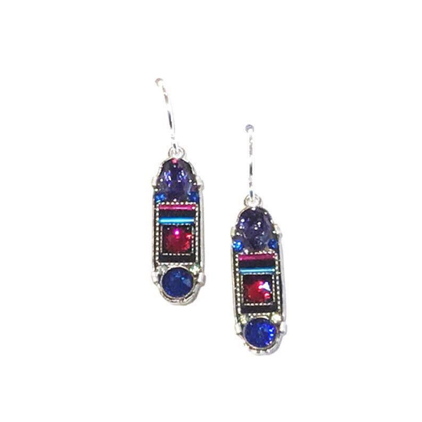Firefly La Dolce Vita Oval Bermuda Blue Earrings Firefly Jewelry - Earrings