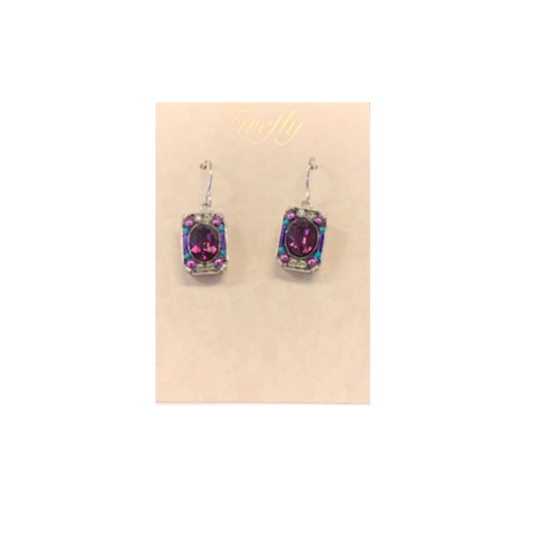 Firefly Rectangular Drop Earrings Firefly Jewelry - Earrings