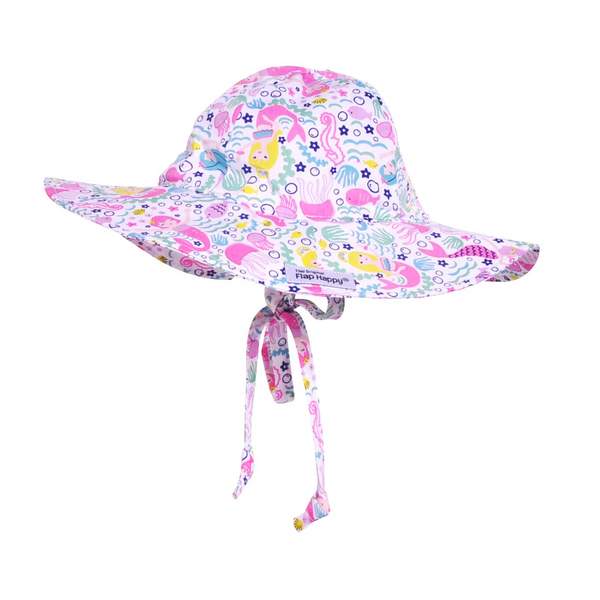 SMALL Floppy Hat - Malibu Mermaid Flap Happy Baby - Clothing