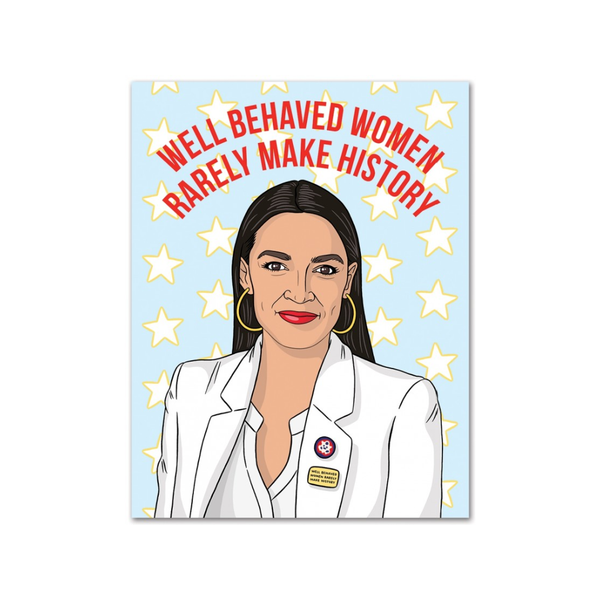 Alexandria Ocasio-Cortez Birthday Card FOUND Card - Birthday
