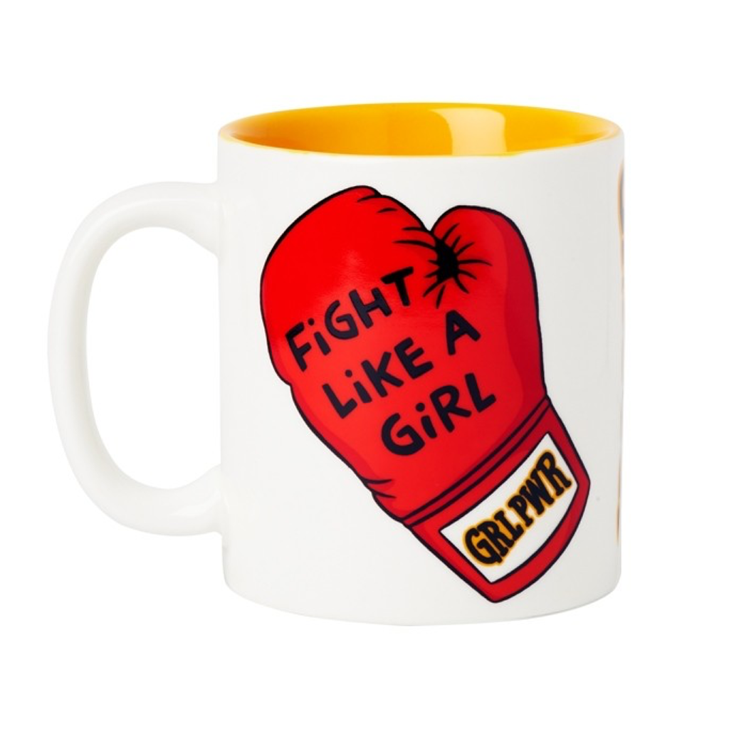 Fight Like A Girl Ceramic Mug FOUND Home - Mugs & Glasses