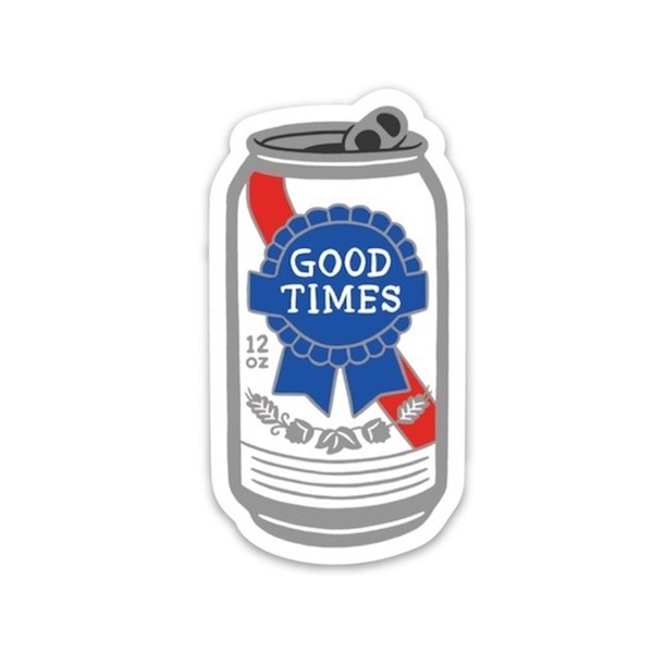 GOOD TIMES BEER Die Cut Sticker FOUND Stickers