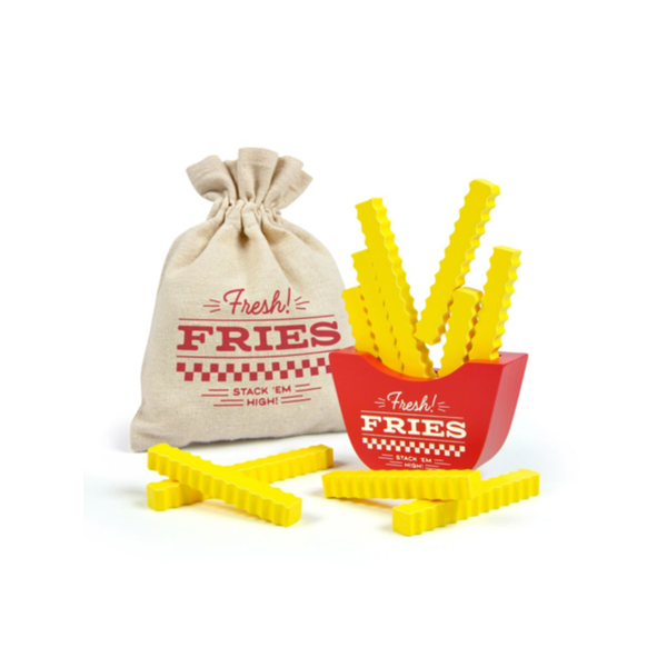 Fresh Fries Wooden Stacking Game Fred & Friends Puzzles & Games