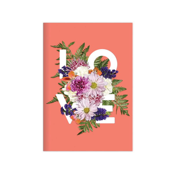 Love Say it with Flowers Journal Galison Books - Blank Notebooks & Journals