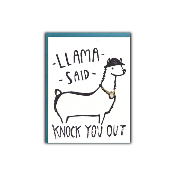 Llama Said Blank Card Ghost Academy Card - Blank