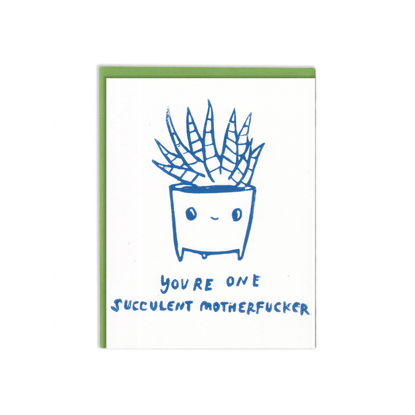 Succulent MOFO Card Ghost Academy Card - Love