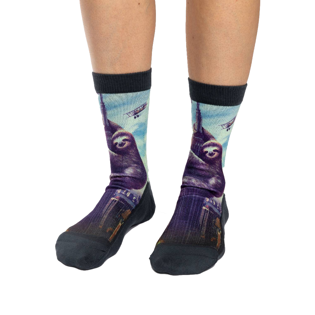 Slothzilla Active Fit Socks - Womens Good Luck Sock Apparel & Accessories - Socks - Womens