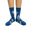 Space Sloth Crew Socks - Womens Good Luck Sock Apparel & Accessories - Socks - Womens