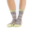 Womens Coffee Sloth Active Fit Socks - Womens Good Luck Sock Apparel & Accessories - Socks - Womens