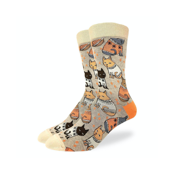 Default Sweater Cats Socks - Mens Good Luck Sock Socks