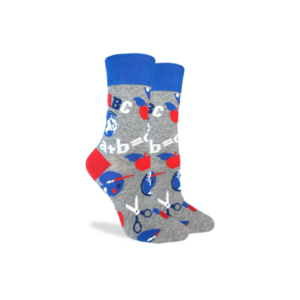 School Teacher Crew Socks - Womens GOOD LUCK SOCK Socks - Womens