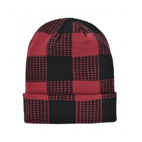 Buffalo Plaid Cuff Hat - Mens Grand Sierra Apparel & Accessories - Winter - Hats