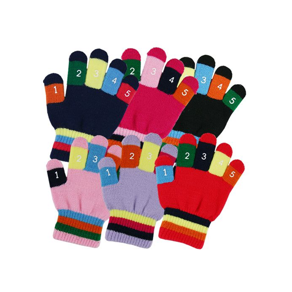 Toddler Knit Magic Stretch Glove with Numbers Grand Sierra Baby - Gloves & Mittens