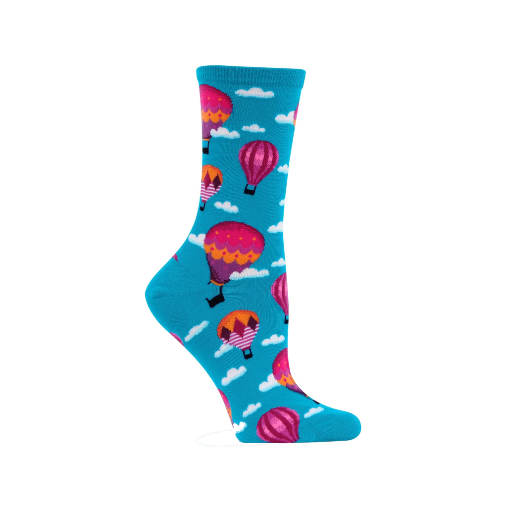 Hot Air Balloons Crew Socks - Womens HOTSOX Apparel & Accessories - Socks - Womens