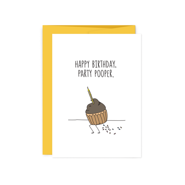 Party Pooper Birthday Card HUMDRUM PAPER Card - Birthday