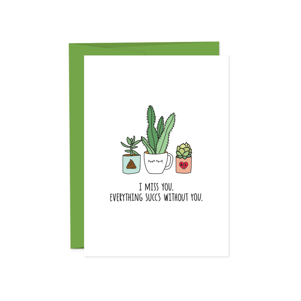 Everything Succs I Miss You Card HUMDRUM PAPER Card - Blank