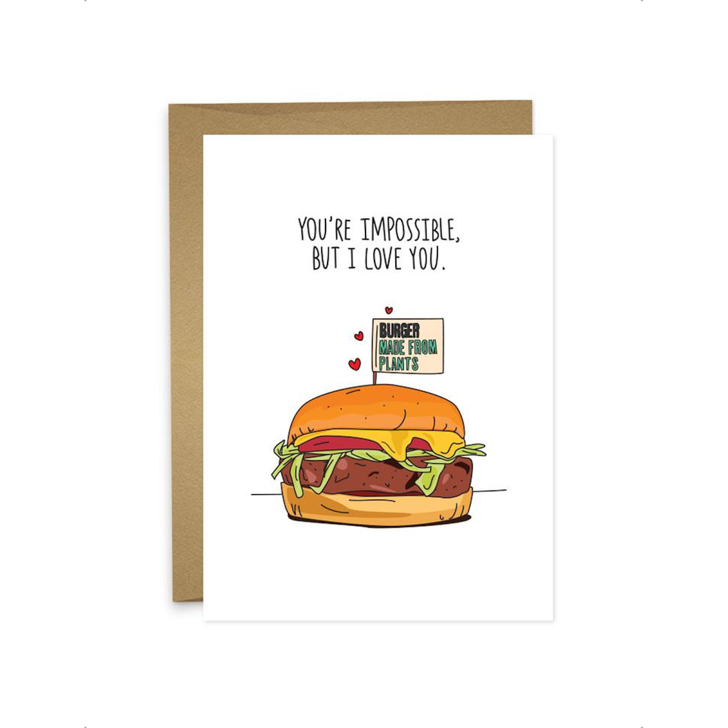 You're Impossible But I Love You Card HUMDRUM PAPER Card - Love