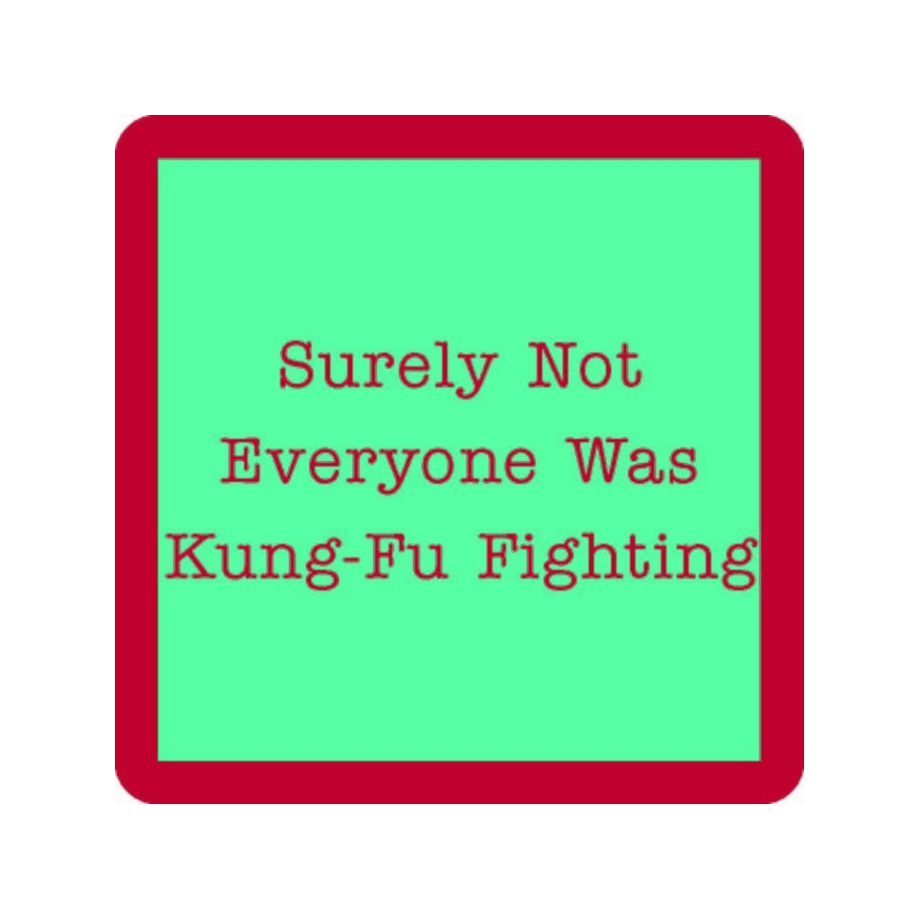 Kung Fu Fighting Coaster IAMTRA Home - Barware - Coasters