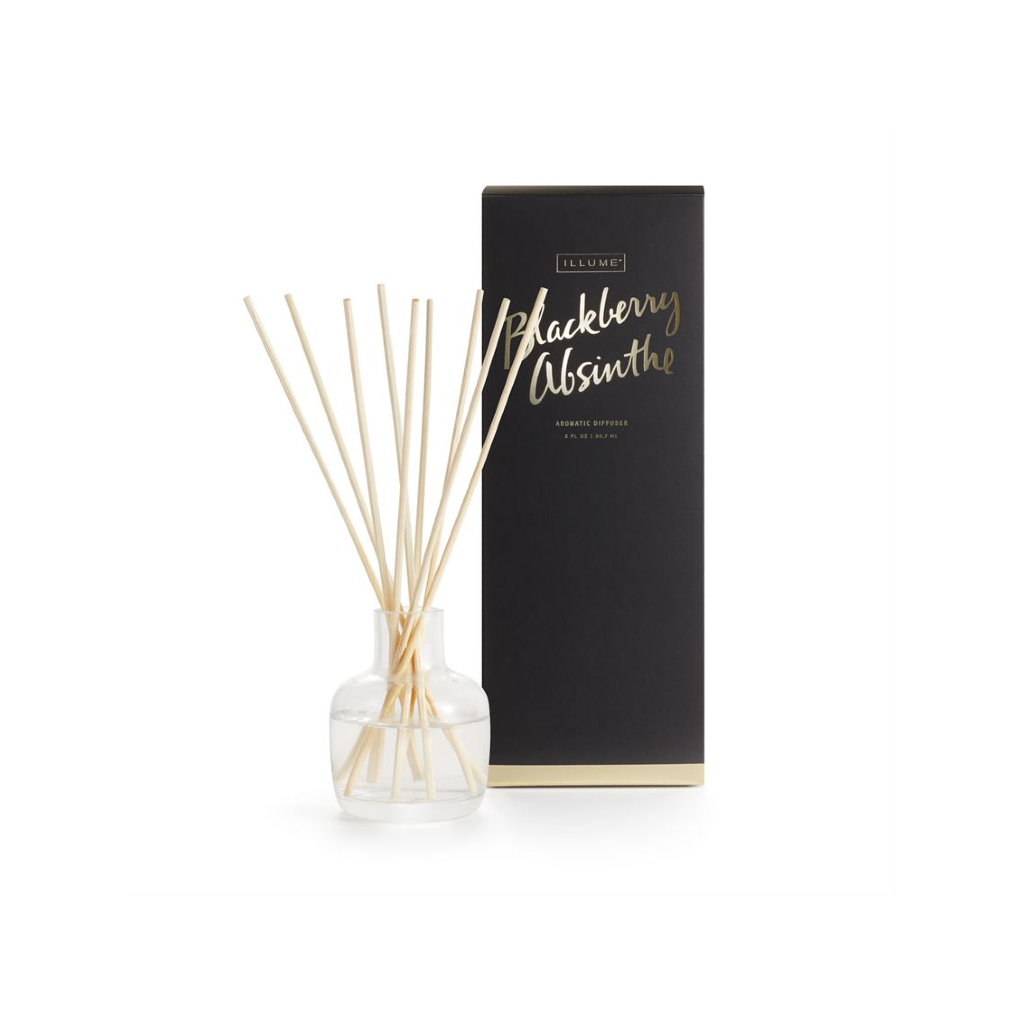 Essentials Diffuser Blackberry Absinthe Illume Home - Candles - Incense, Diffusers, Air Fresheners & Room Sprays