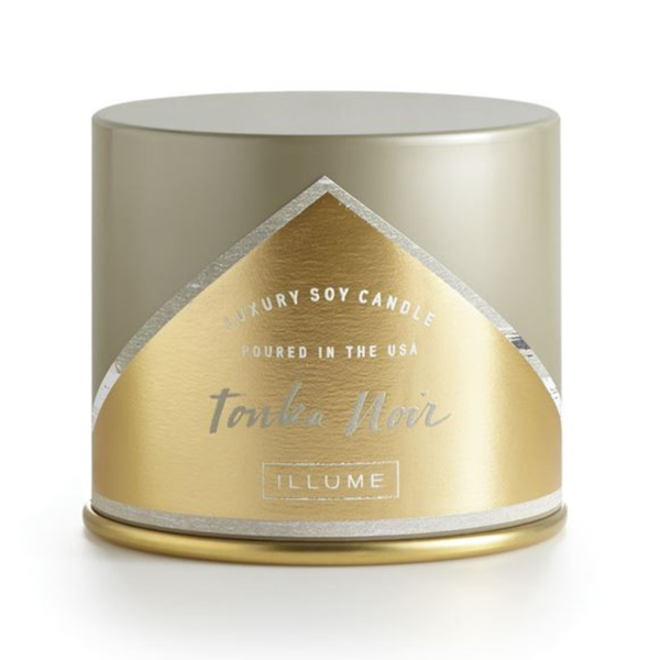 Essentials Vanity Tin Candle - Tonka Noir - 11.8oz Illume Home - Candles - Specialty