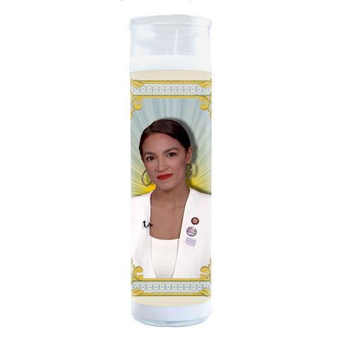 Alexandria Ocasio Cortez State of The Union Suit Prayer Candle