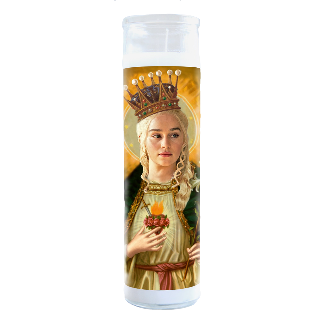 Daenerys Targaryen Game of Thrones Illuminidol Celebrity Prayer Candle Illuminidol Candles