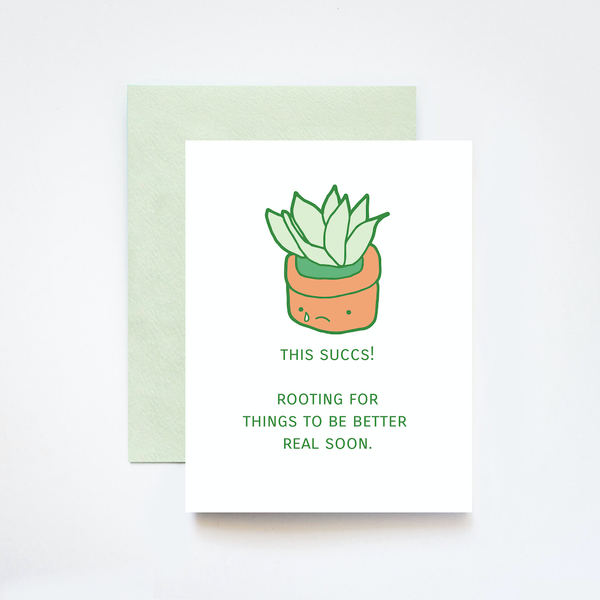 This Succs! Succulent Blank Card ILOOTPAPERIE Card - Blank
