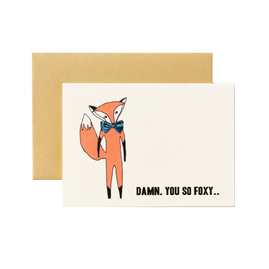 You So Foxy Love Card ILOOTPAPERIE Cards - Love