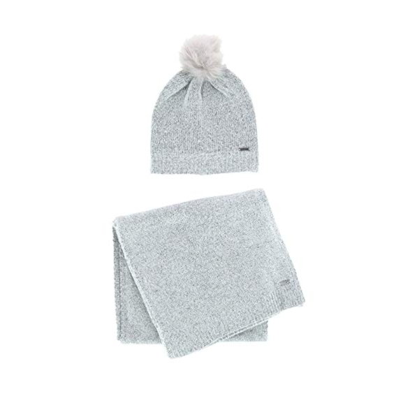 GRAY Jack & Missy Classic Luxe Hat And Scarf Set Jack & Missy Apparel & Accessories - Winter - Scarves