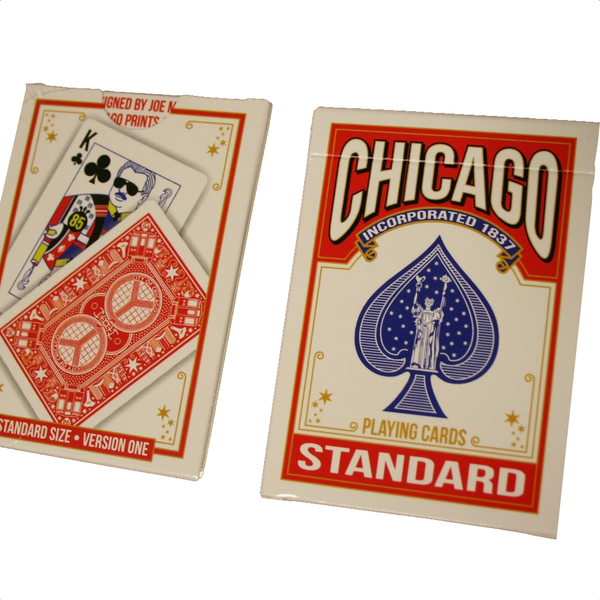 Chicago Playing Cards - Version One Red Deck Joe Mills Playing Cards