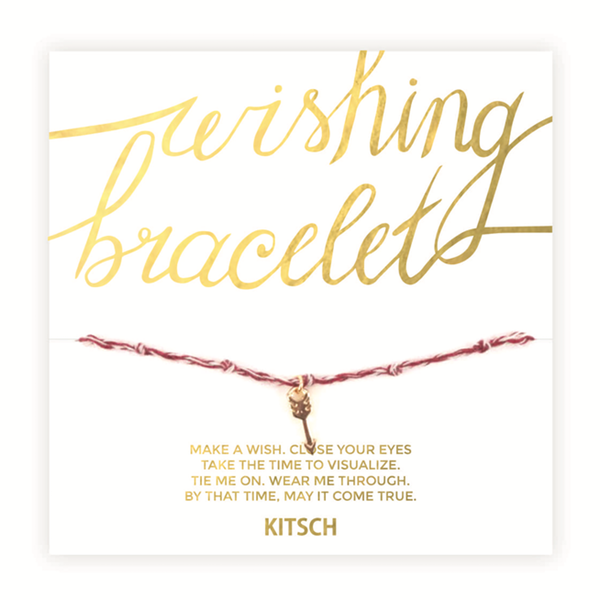 Kitsch Bracelets & Cuffs Arrow Wishing Bracelet - Red