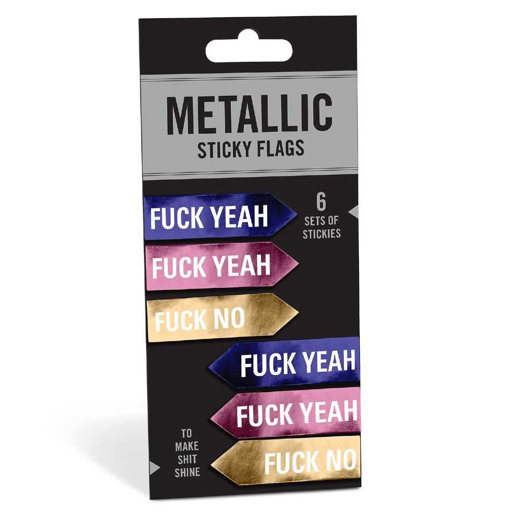 Fuck Yeah / Fuck No Metallic Sticky Flags Knock Knock Paper & Packaging - Other