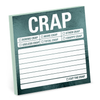 Crap Metallic Sticky Notes Knock Knock Paper & Packaging - Pad