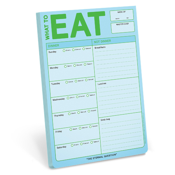 KNK PAD WHAT TO EAT FRESH LOOK Knock Knock Paper & Packaging - Pad