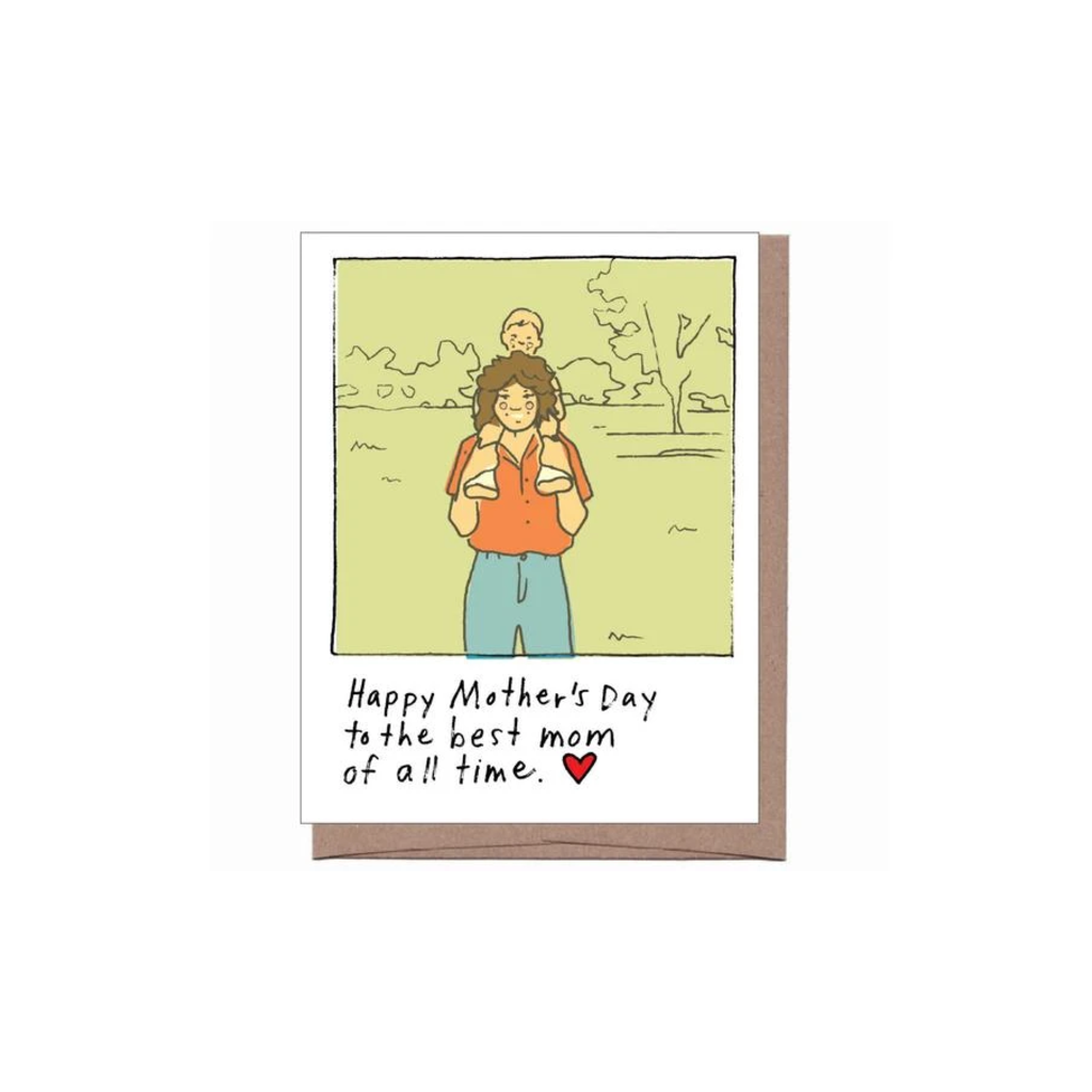 Best Mom Of All Time Mother's Day Card LA FAMILIA GREEN Card - Mother's Day