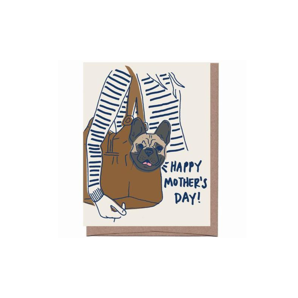 Purse Dog Mother's Day Card LA FAMILIA GREEN Card - Mother's Day